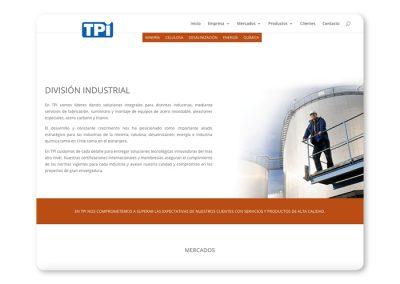 Sitio web TPI