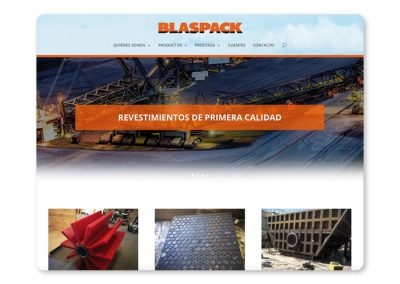 Sitio web Blaspack