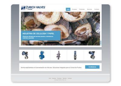 Sitio web Zurich Valves